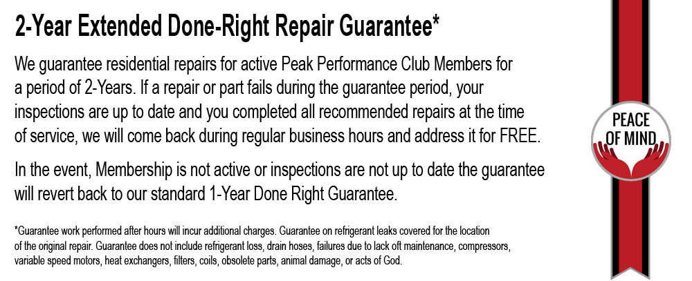 Extended Done-Right Repair Guarantee